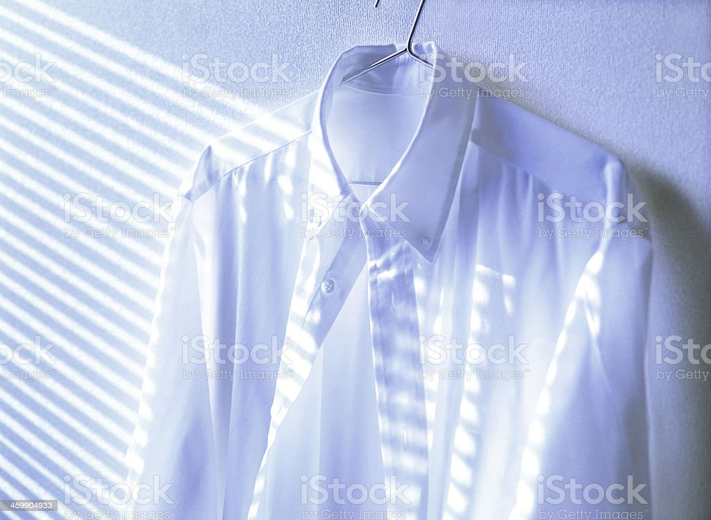 The shirt of a hanger royalty-free stock photo