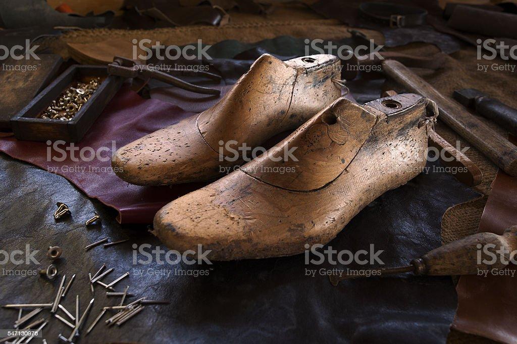 the shoemaker stock photo