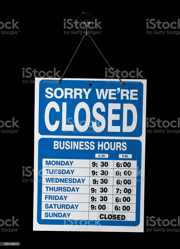 the shops closed royalty-free stock photo
