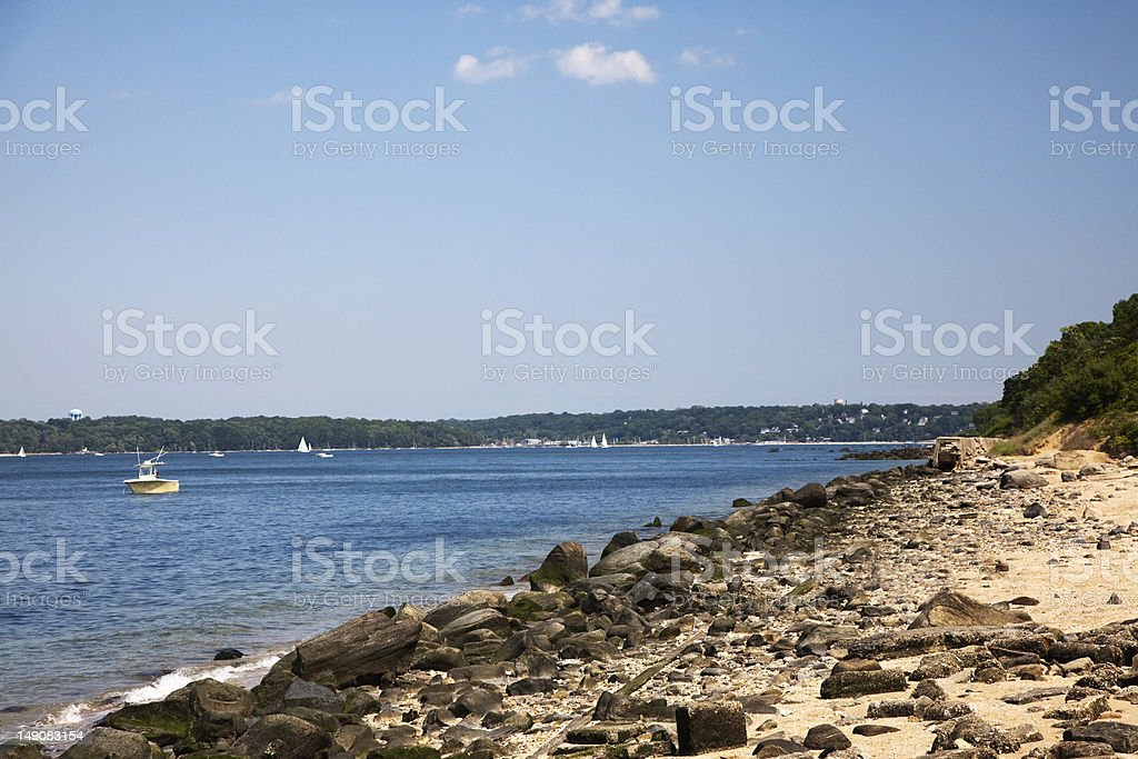 The Shore at Sands Point stock photo
