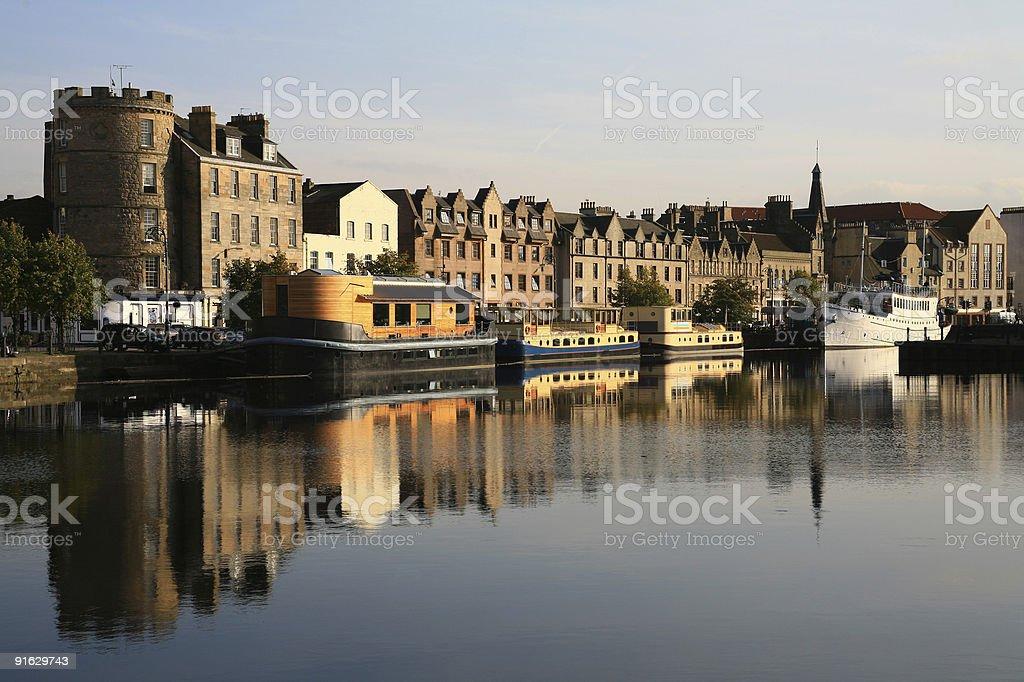 The Shore, Leith Docks, Edinburgh royalty-free stock photo