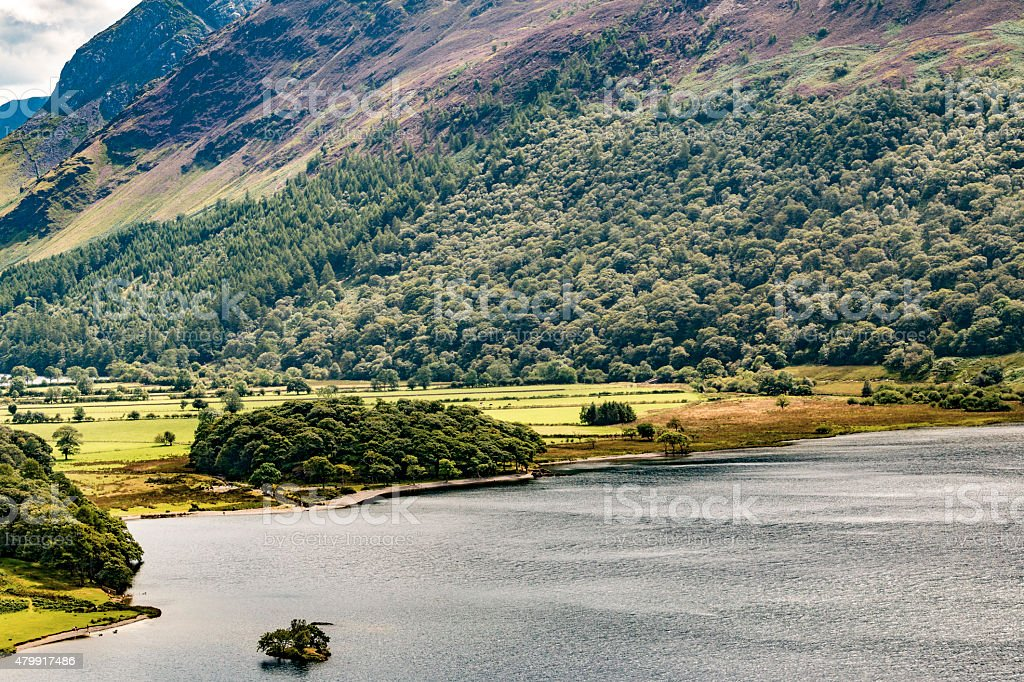 The shore of Buttermere stock photo