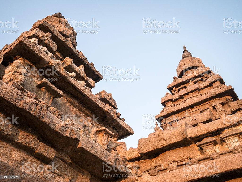 The Shore Temple, .Mahabalipuram, Tamil Nadu, India stock photo