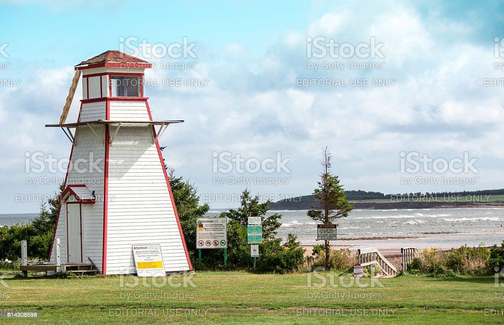 The shoreline and beach, Cabot Provincial Park, PEI stock photo