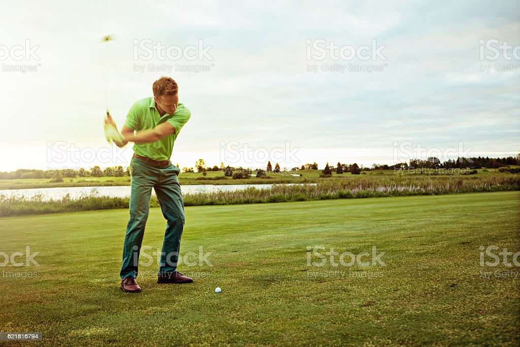 The shot to beat all shots stock photo