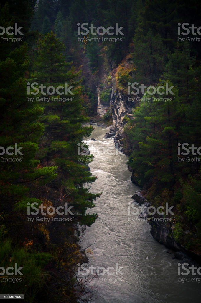 The Shotover river stock photo