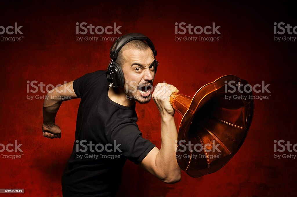 The Shouting royalty-free stock photo