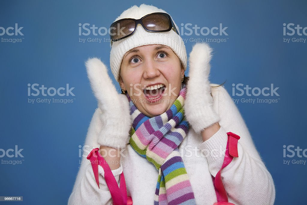 The shouting woman royalty-free stock photo