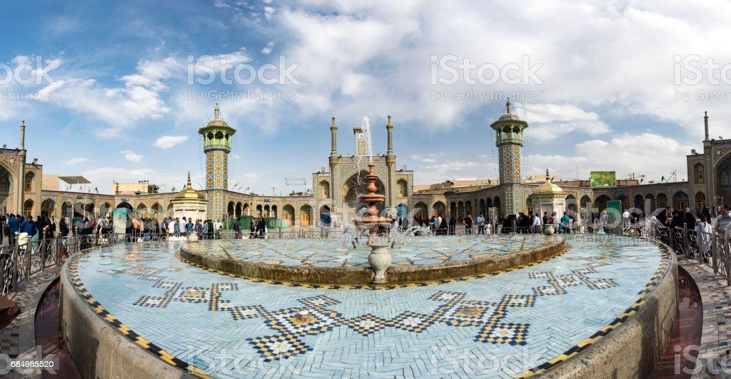 The shrine of Fatima Almasomh stock photo