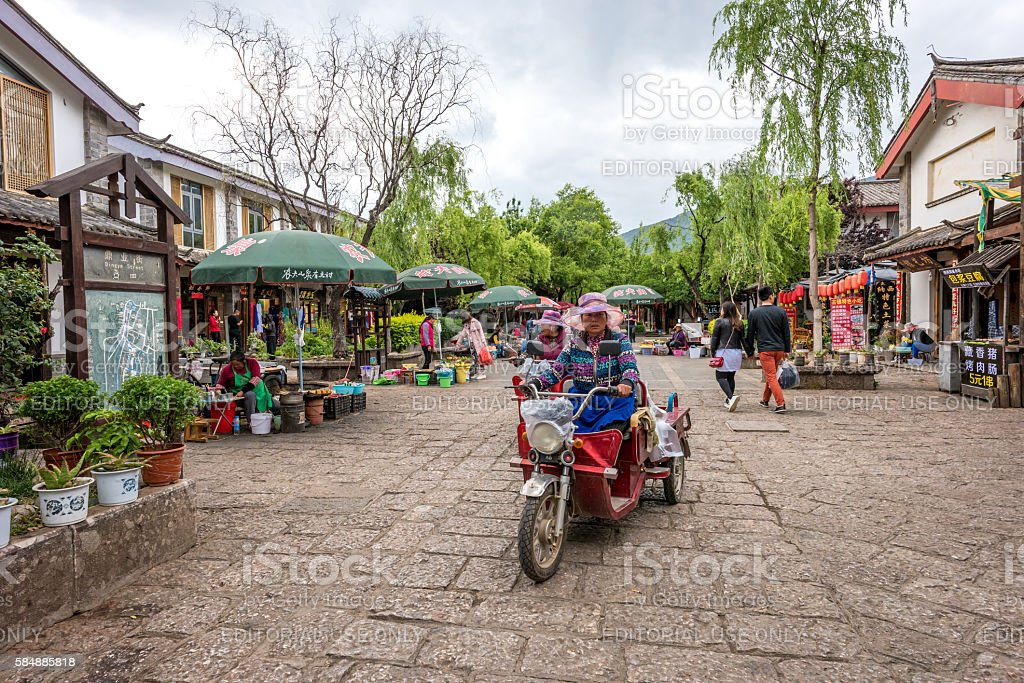 the Shuhe Ancient Town stock photo