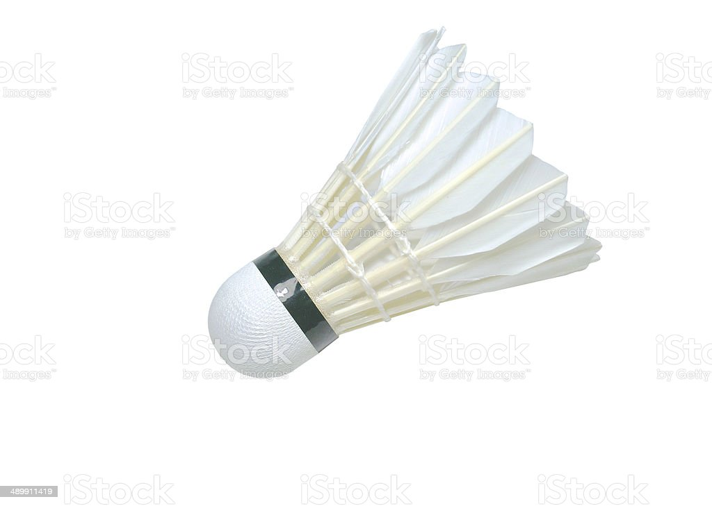 The shuttlecock isolated stock photo