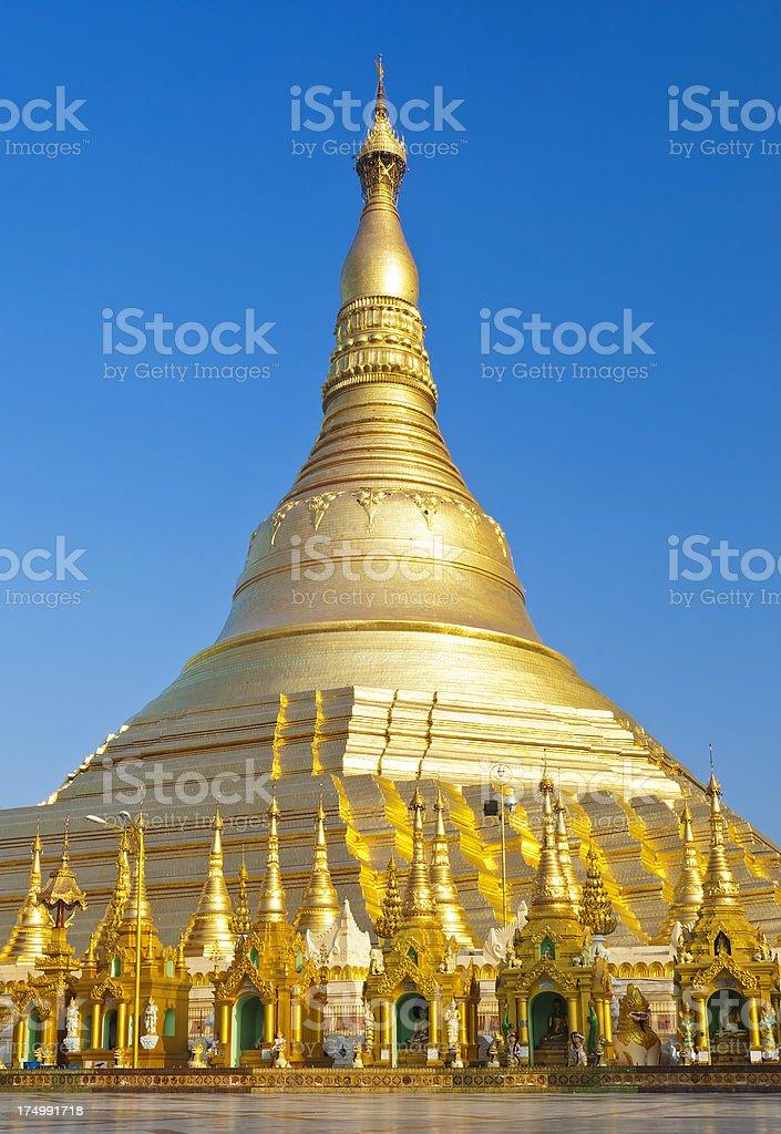 The Shwedagon Pagoda In Yangon, Myanmar royalty-free stock photo