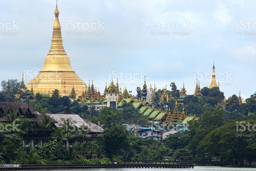 The Shwedagon pagoda stock photo