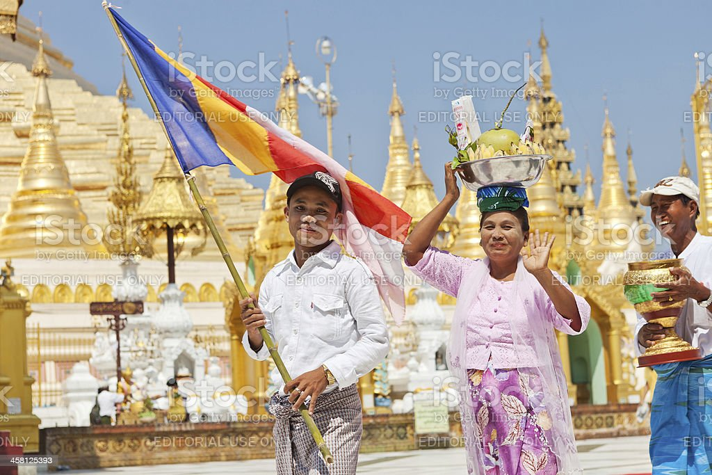 The Shwedagon Pagoda royalty-free stock photo