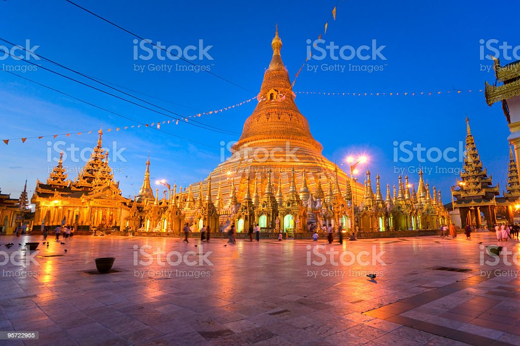 The Shwedagon Pagoda, Yangon, Myanmar. royalty-free stock photo