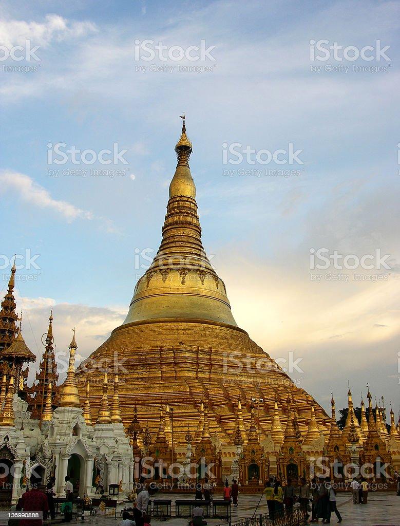 The Shwedagon Paya royalty-free stock photo
