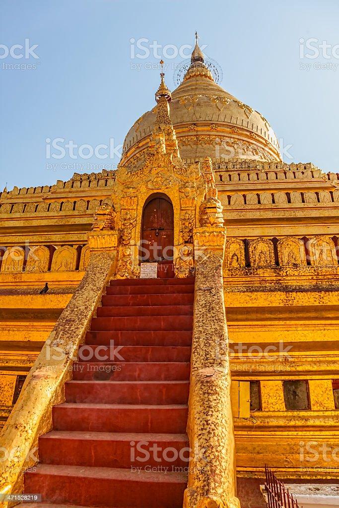 The Shwezigon Pagoda royalty-free stock photo