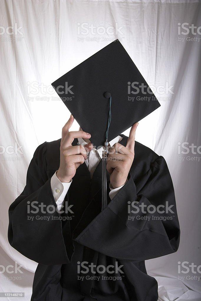 The Shy Grad royalty-free stock photo