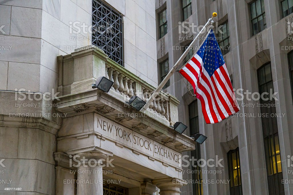The side entrance of New York Stock Exchange, NYC stock photo