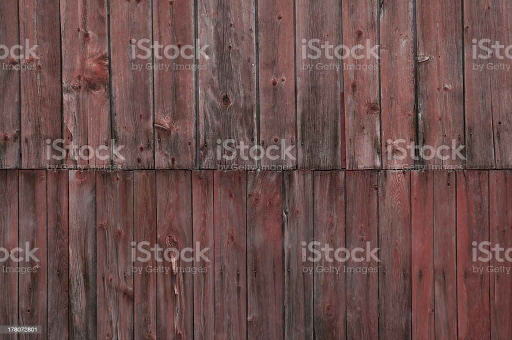 The side of a weathered barn. royalty-free stock photo
