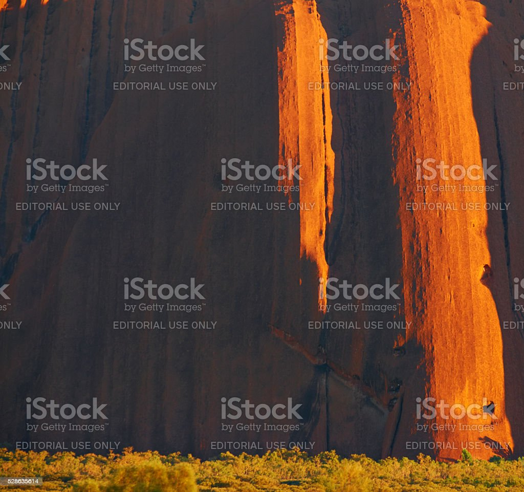 The Side Of Uluru stock photo