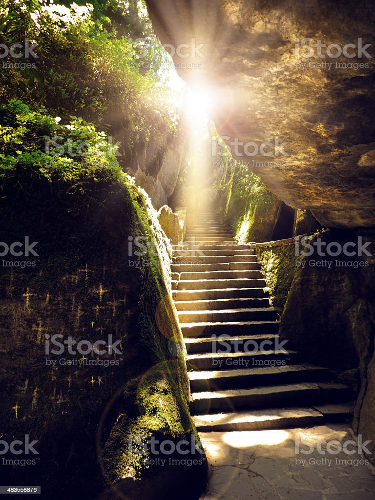 The sights of St. Francis in Italy: La Verna stock photo
