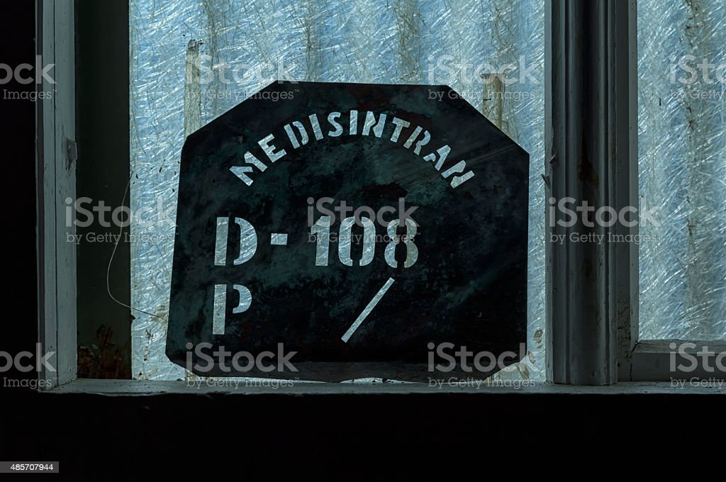 The sign in the window royalty-free stock photo