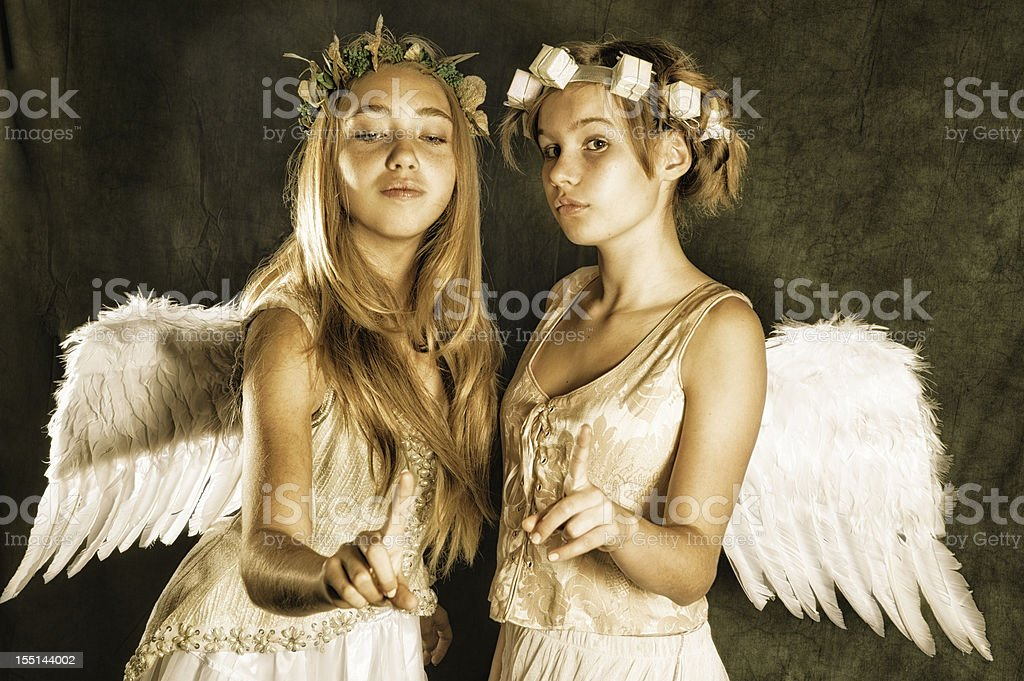 The sign of angels stock photo