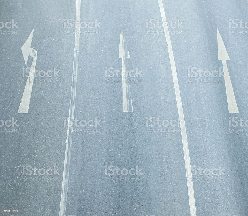 the sign of raffic on the road stock photo