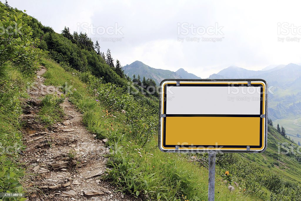 the sign stock photo