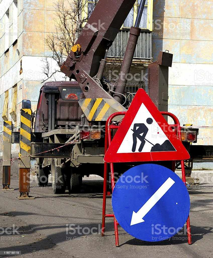 The Sign 'Work'. royalty-free stock photo