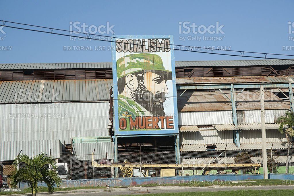 The signs of propaganda, Cuba. stock photo