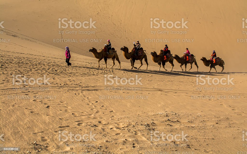 The Silk Road stock photo