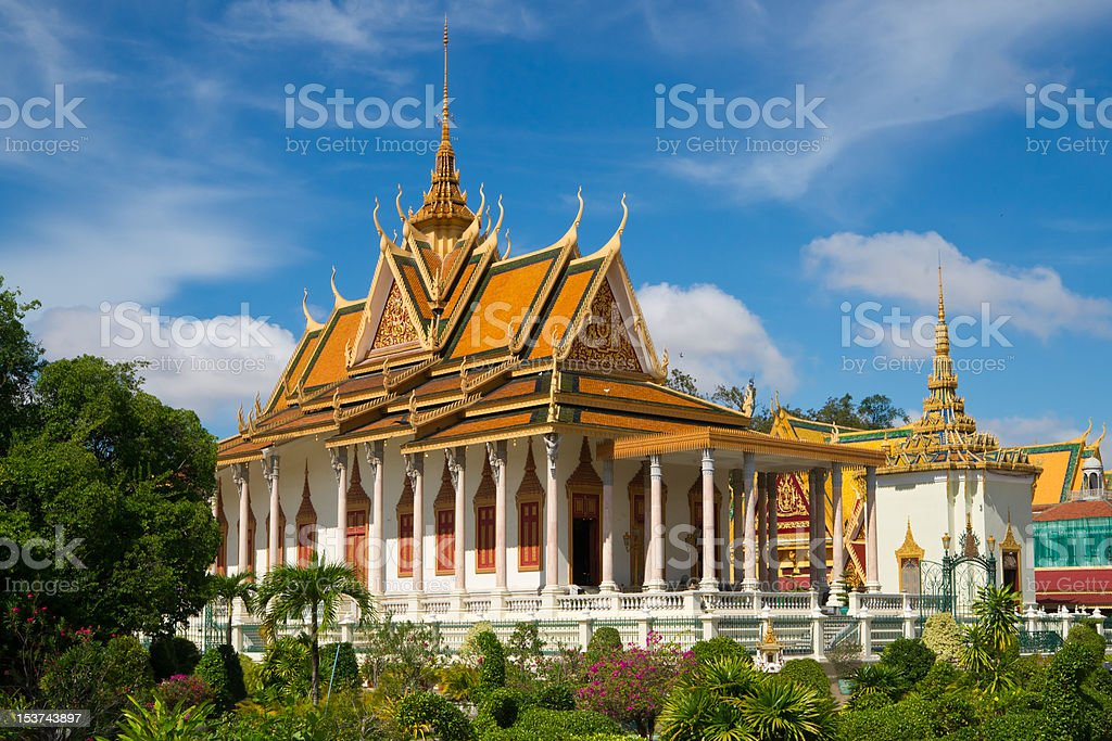 The Silver Pagoda in Phnom Penh stock photo