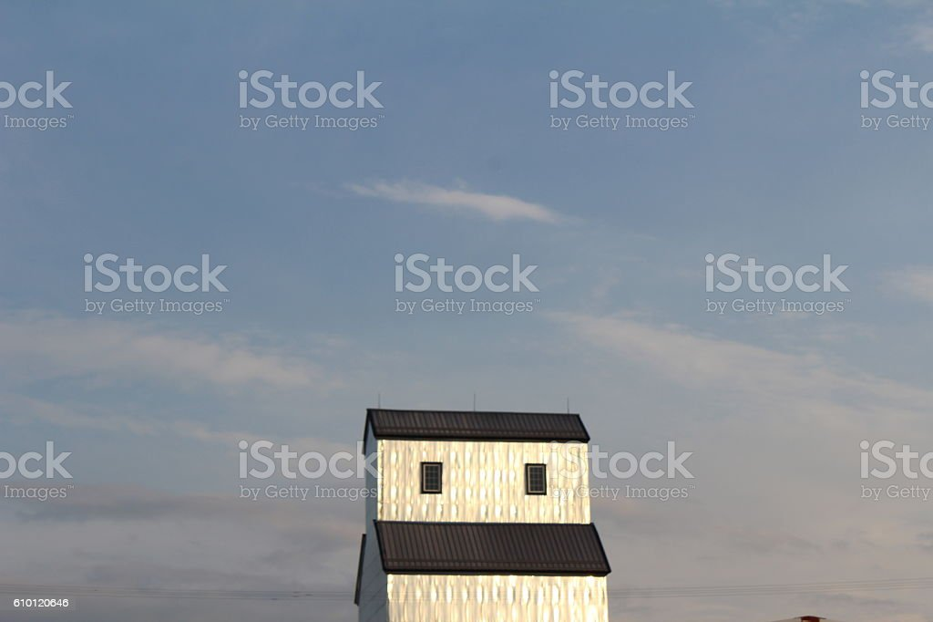 The Silver Tower stock photo