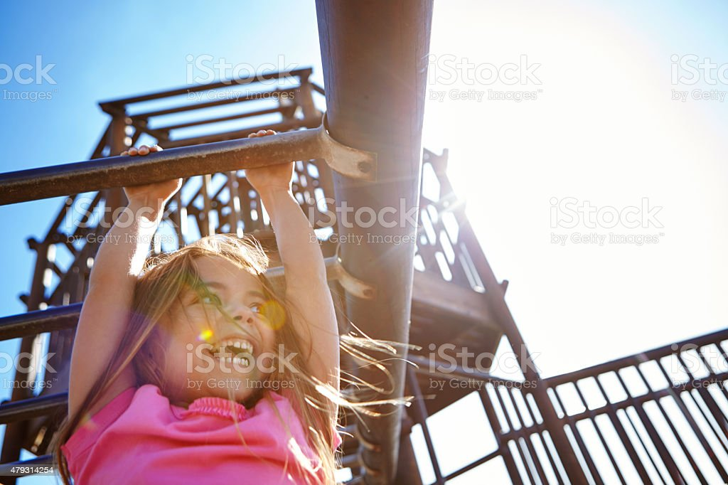 The simple joys of childhood stock photo