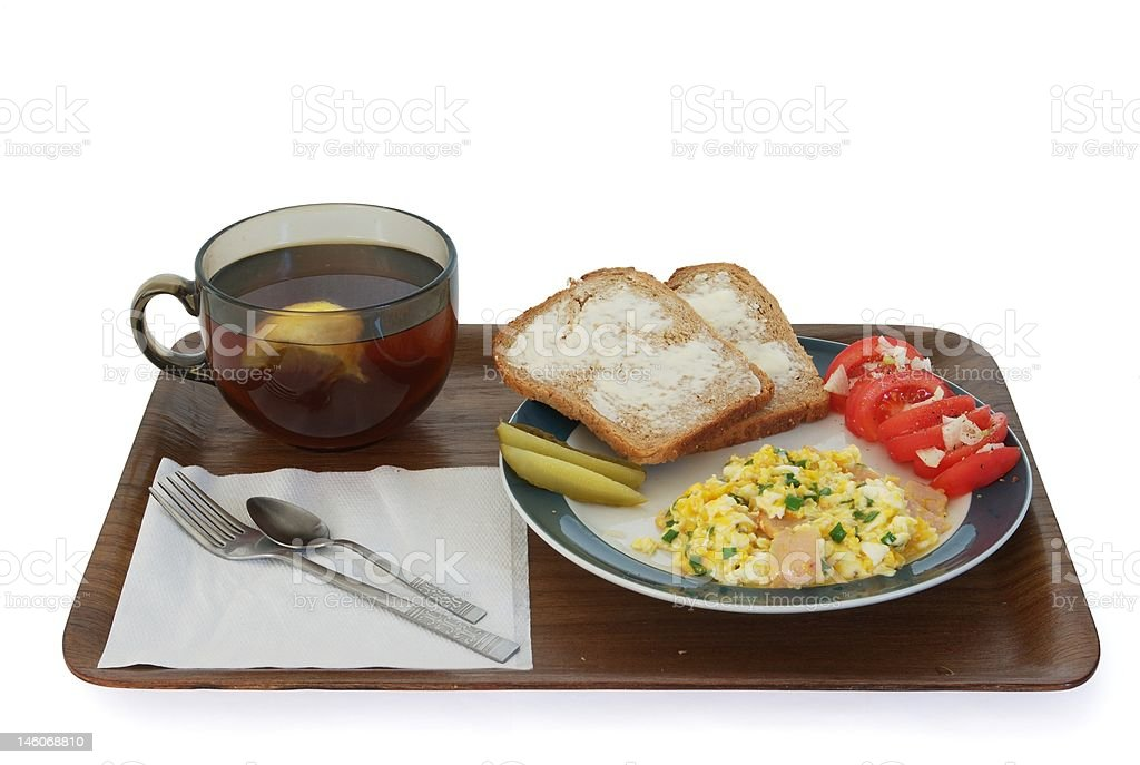 The Simplest Traditional Breakfast in Poland royalty-free stock photo