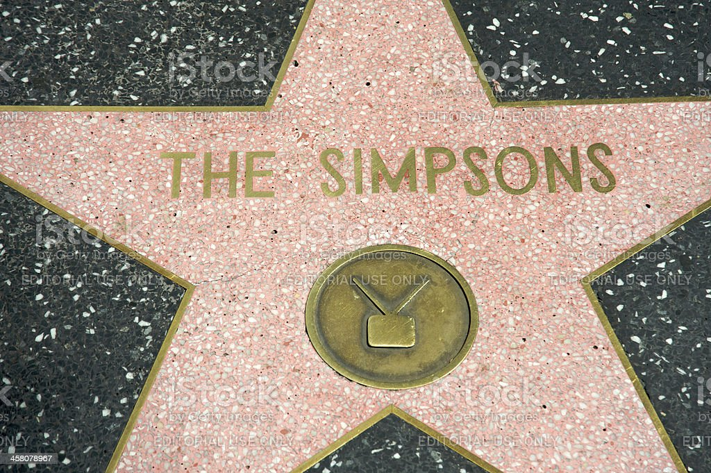 The Simpsons royalty-free stock photo