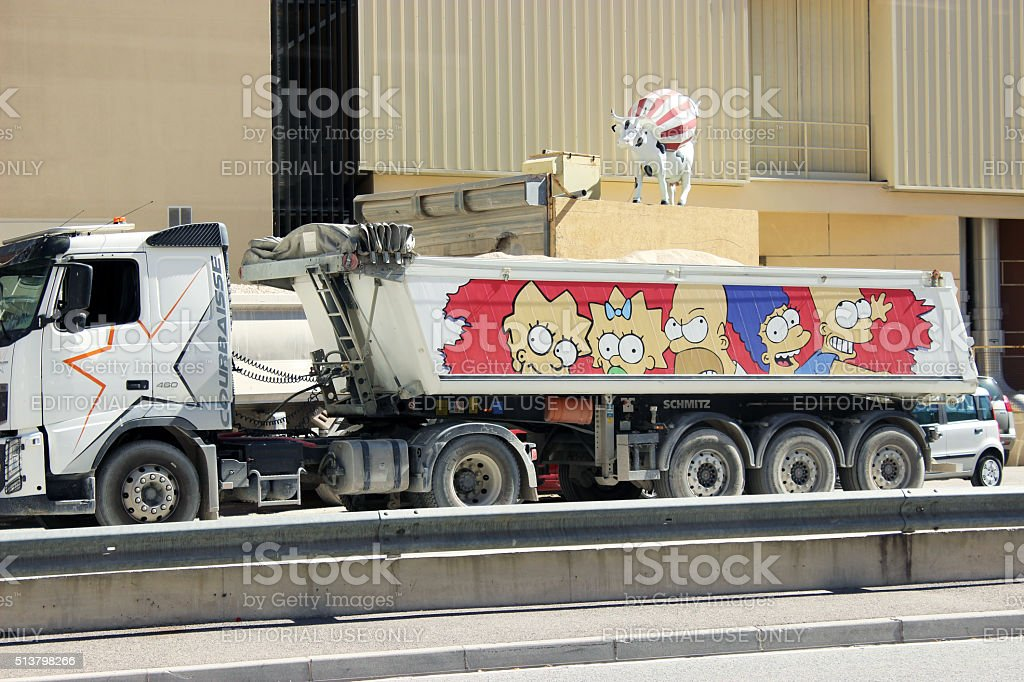 The Simpsons Truck stock photo