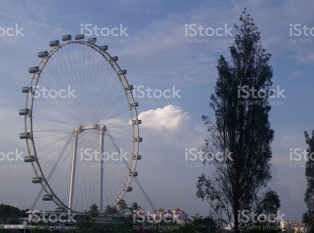 The Singapore Flyer in Singapore stock photo