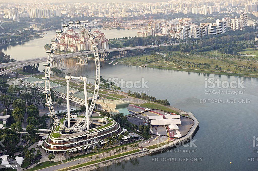 The Singapore Flyer royalty-free stock photo