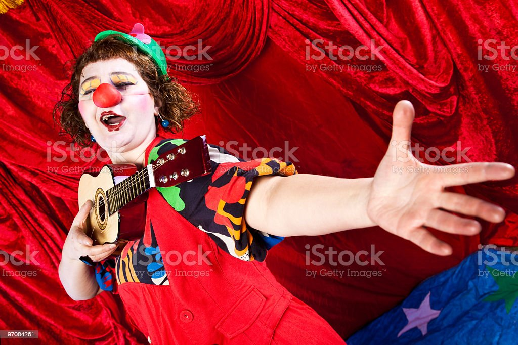 The singer clown royalty-free stock photo