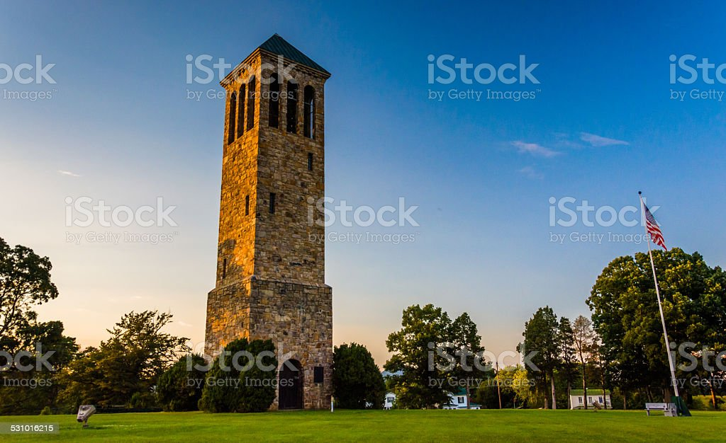 The singing tower in Carillon Park, Luray, Virginia. stock photo