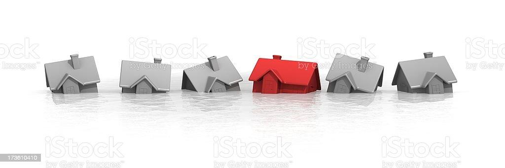 The sinking housing market royalty-free stock photo