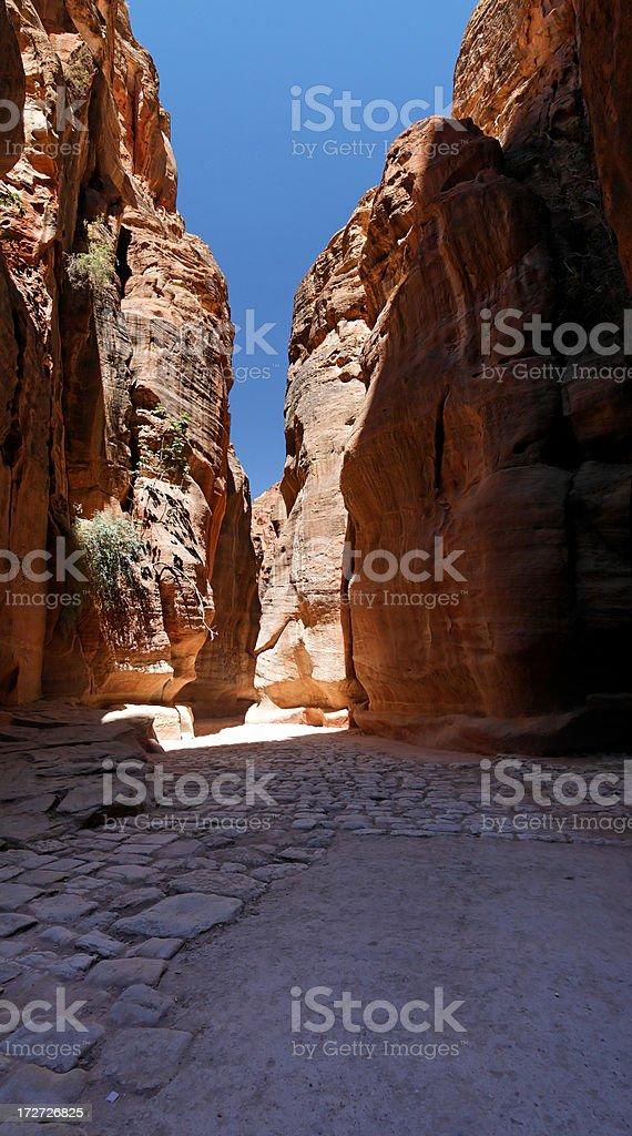 The siq, Petra royalty-free stock photo