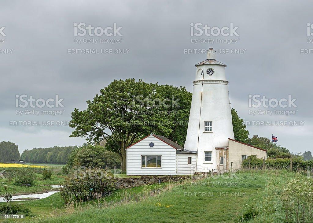 The Sir Peter Scott Lighthouse stock photo