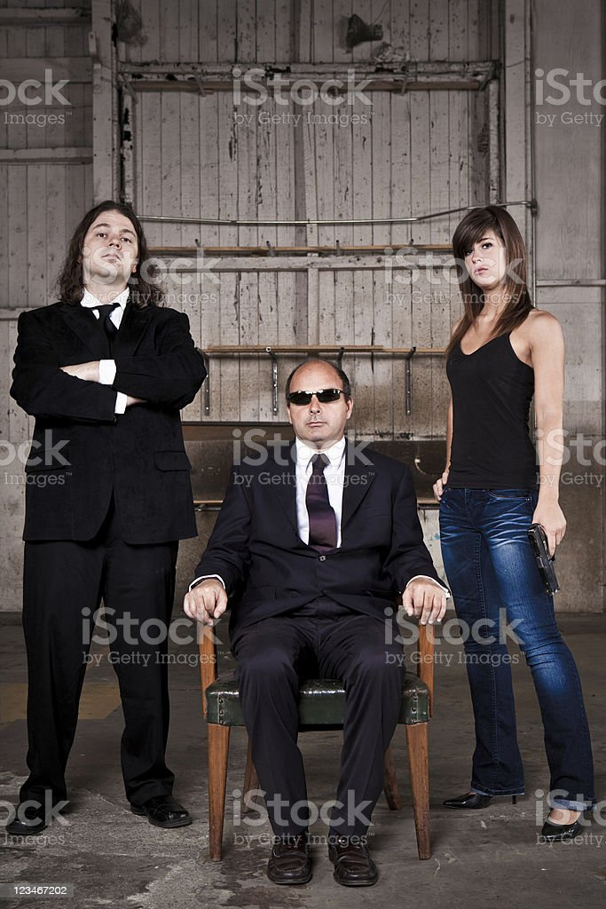 The sit down discussion royalty-free stock photo