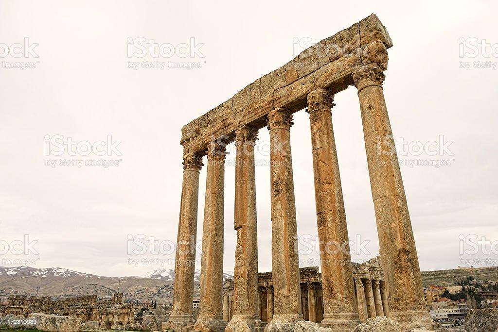 The Six Corinthian Columns royalty-free stock photo