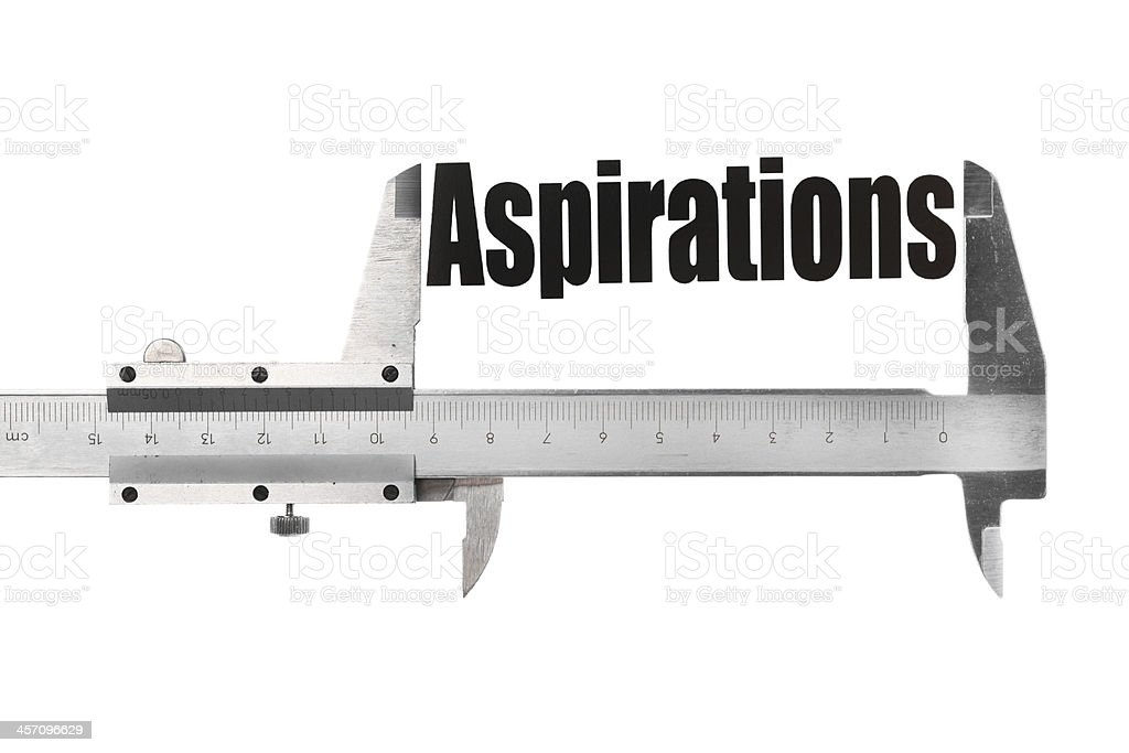 The size of our aspirations stock photo