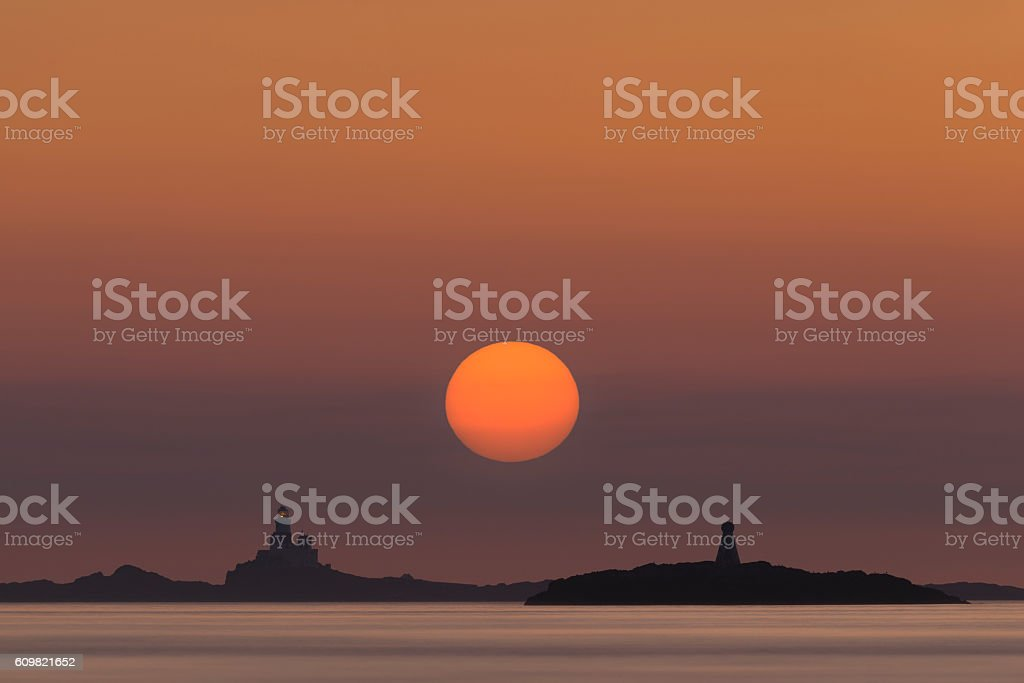 The Skerries Lighthouse stock photo